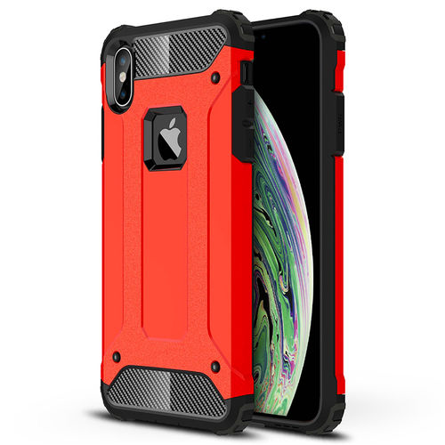 Military Defender Shockproof Case for Apple iPhone Xs Max - Red